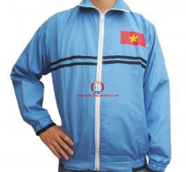 Áo rét 2 lớp Đại An vải Vinilon mầu T.Than + Ghi + xanh biển