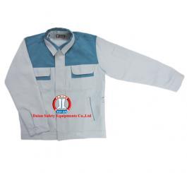 Áo rét 2 lớp vải kk Nhật pha, mầu ghi sáng phối mầu ghi chì