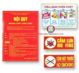 Bộ tiêu lệnh (tiêu lệnh + nội quy + cấm lửa + cấm hút thuốc)