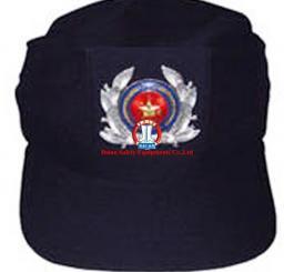 Mũ vải lưỡi trai 3 cạnh tím than ( bảo vệ )