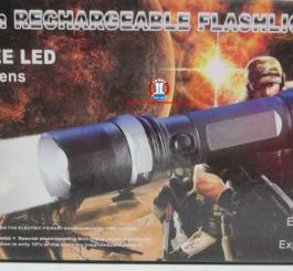 Đèn pin thép đen TQ CREE Led(kèm bộ pin sạc), rọi xa 500 m
