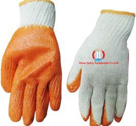Găng sợi tráng nhựa Trung Quốc mầu cam chống trơn, nóng ( Dày )