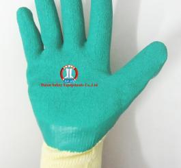 Găng sợi tráng nhựa ĐL mầu xanh chống trơn, chống hóa chất
