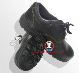 Giày da thấp cổ ABC đế cao su đen, chống dầu