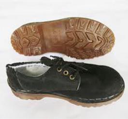 Giày da lộn thấp cổ đế nhựa