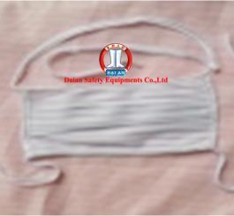 Khẩu trang vải tĩnh điện Vinilon trắng kẻ TQ (2 lớp vải quai buộc)