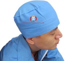 Mũ blu vải lon TQ (thô) trắng / xanh (2 lớp vải)