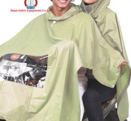 Áo mưa choàng siêu mỏng vinilon xịn, 2 đầu (có kính)