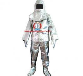 Quần áo Amiăng chống cháy, tráng bạc, TQ loại dày (500 độ C)