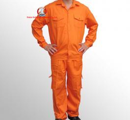 Quần áo kaki LDHQ màu ghi + cam túi hộp