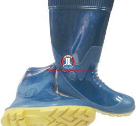 Ủng CS HS 04 xanh dương, đế vàng, cao, có lót